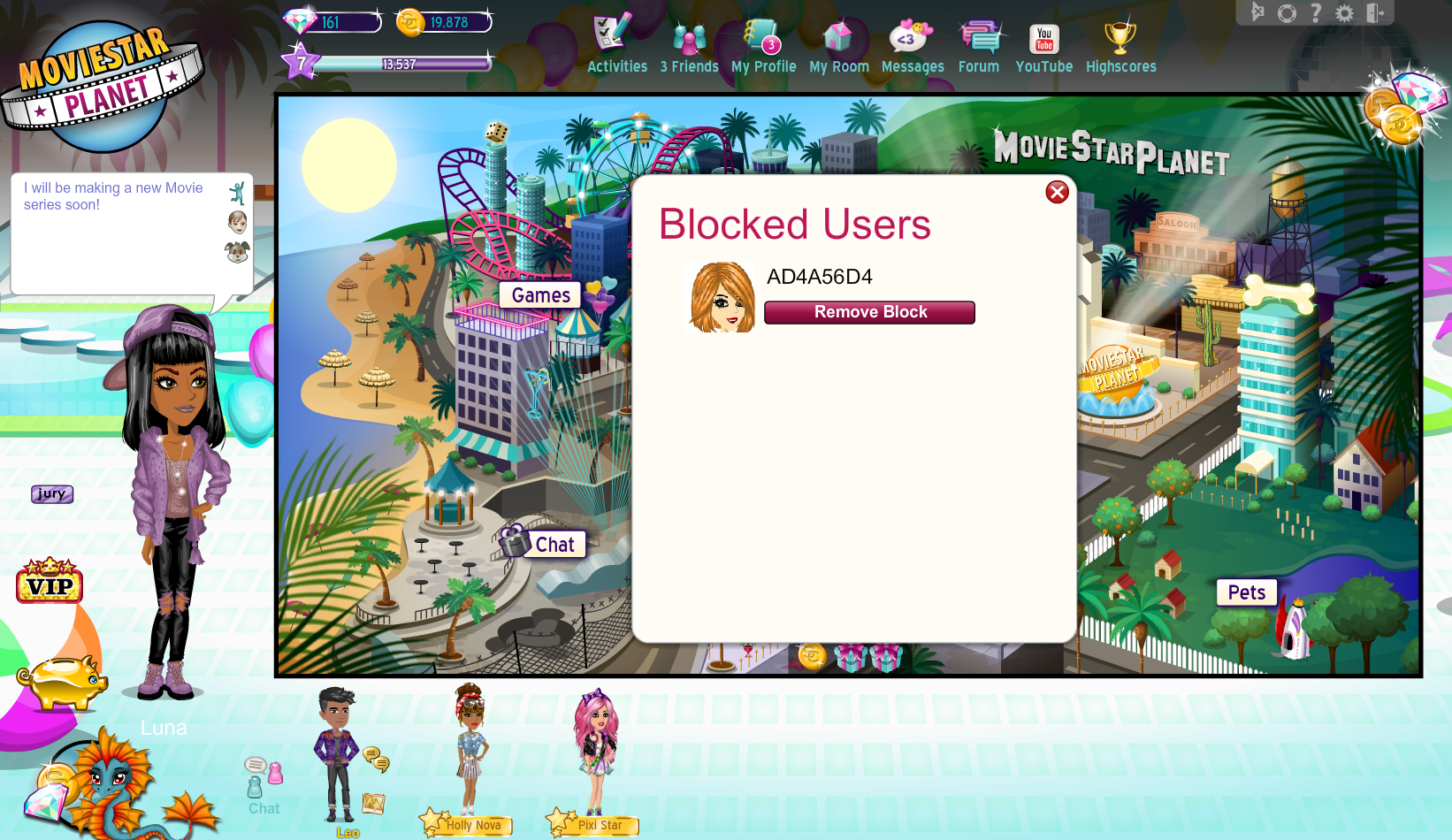 How do I block and unblock users? – MovieStarPlanet