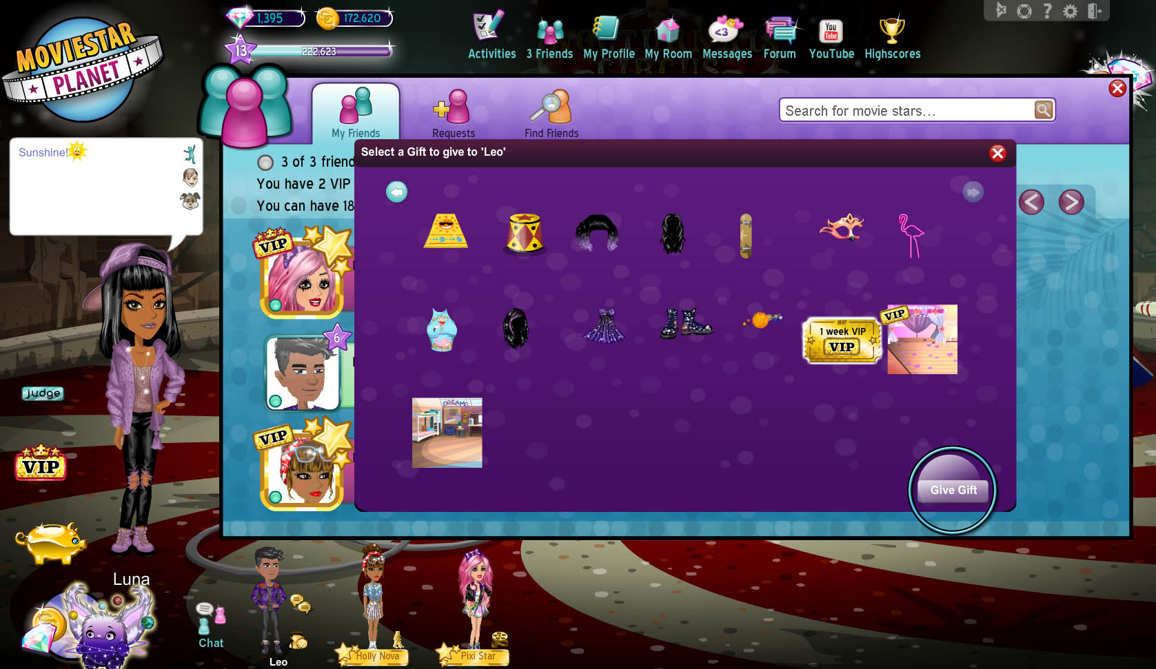 how do i give vip to other moviestars � moviestarplanet